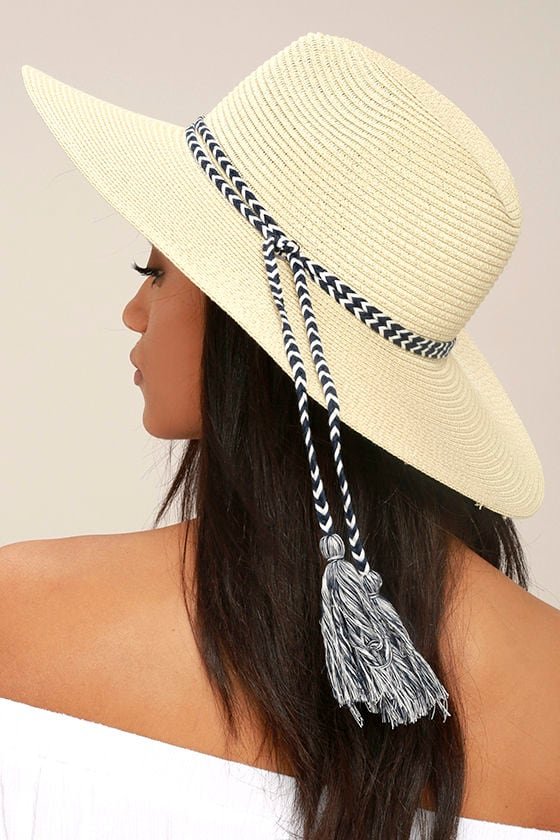 New Me Beige Floppy Straw Hat 2