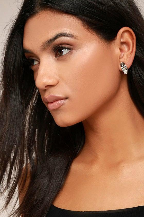 My Time Gold Rhinestone Earrings 1