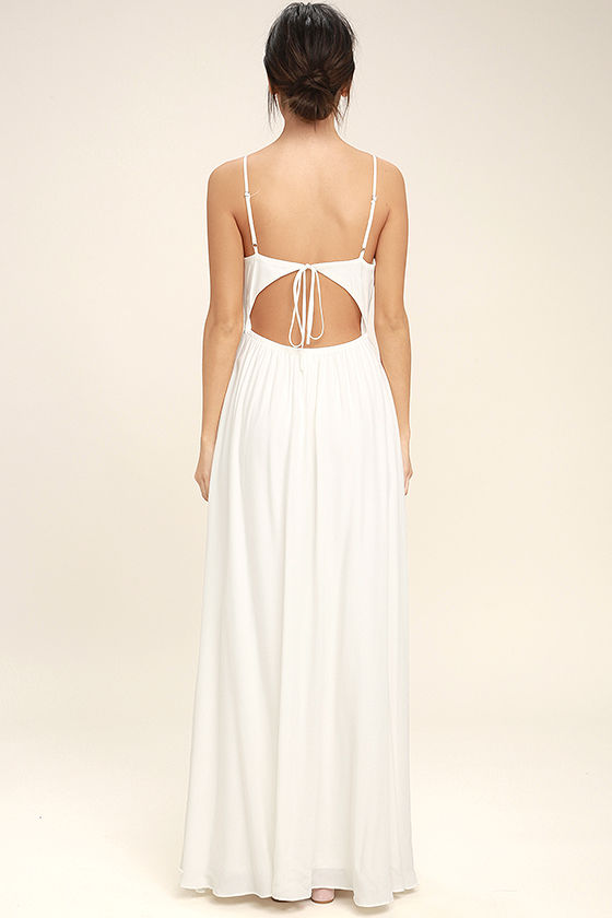 Ascension Island White Embroidered Maxi Dress 4