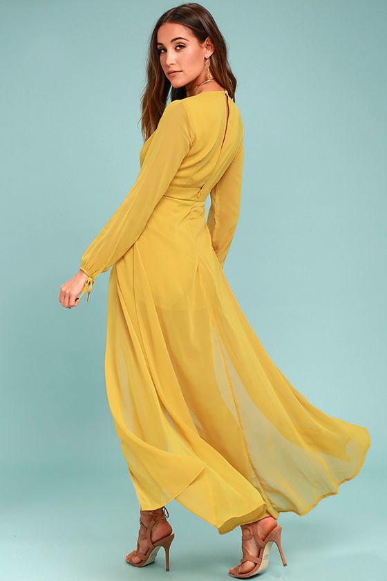 9847c7fff29b Mustard Yellow Romper - Maxi Romper - Long Sleeve Romper -  59.00