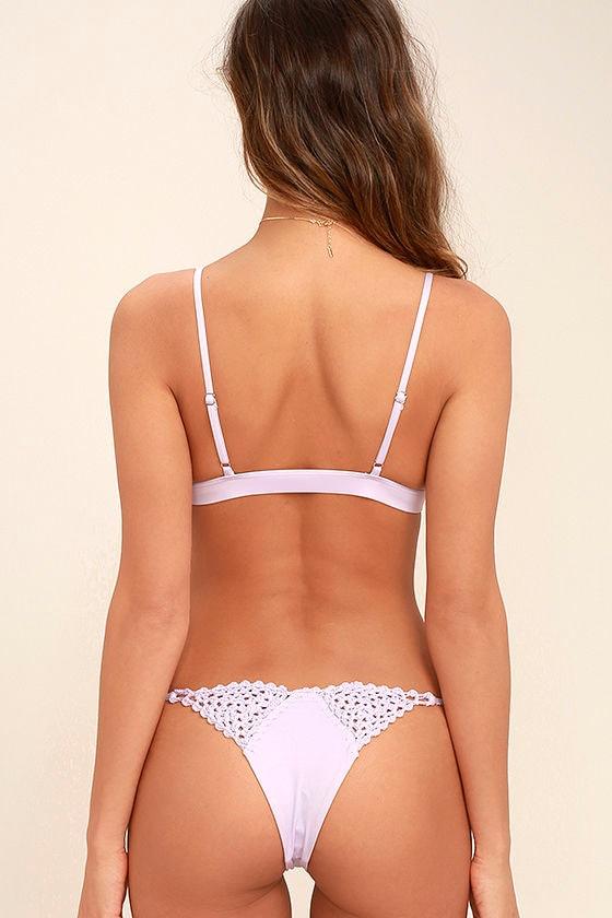 Frankies Bikinis Stella Lavender Crochet Bikini Top 4