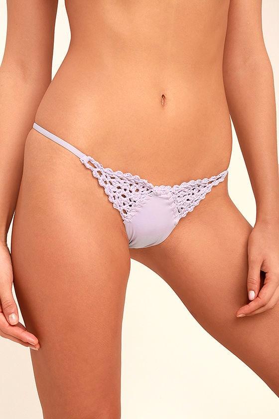 Frankies Bikinis Stella Lavender Crochet Bikini Bottom 5