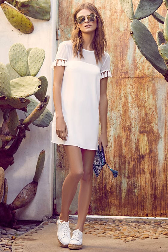 Iced Latte White Shift Dress 2