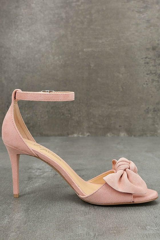 Daya by Zendaya Simms Blush Suede Leather Ankle Strap Heels 4