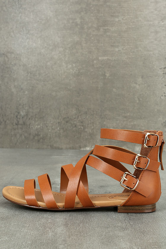 Neria Tan Gladiator Sandals 2