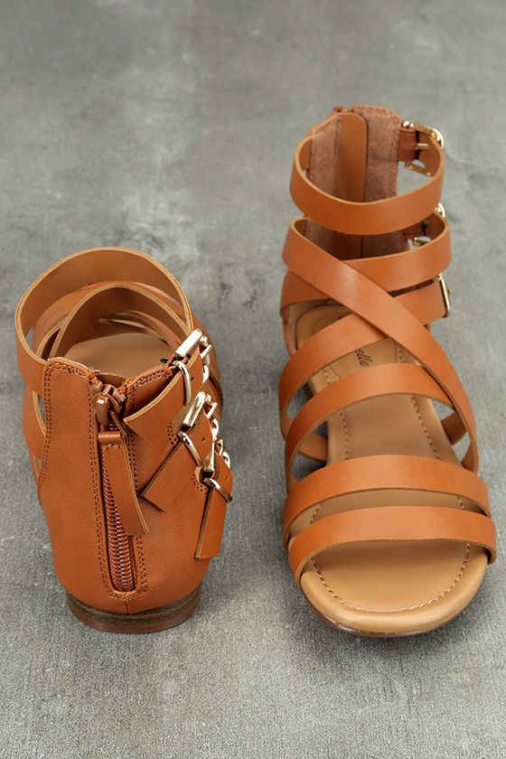 Neria Tan Gladiator Sandals 3