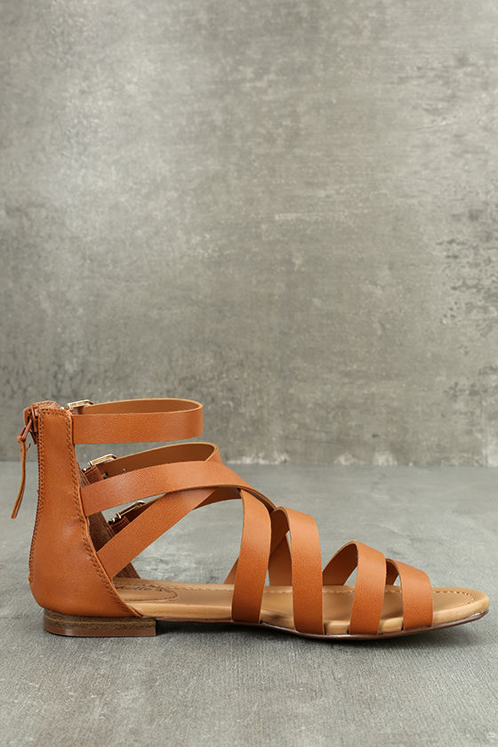 Neria Tan Gladiator Sandals 4