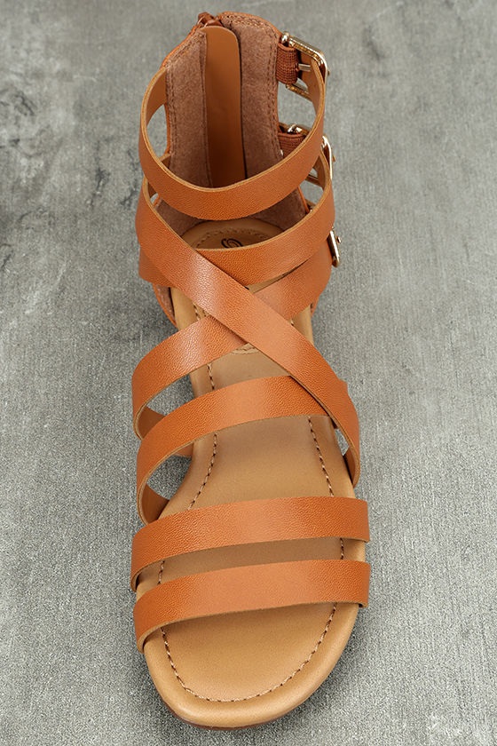 Neria Tan Gladiator Sandals 5