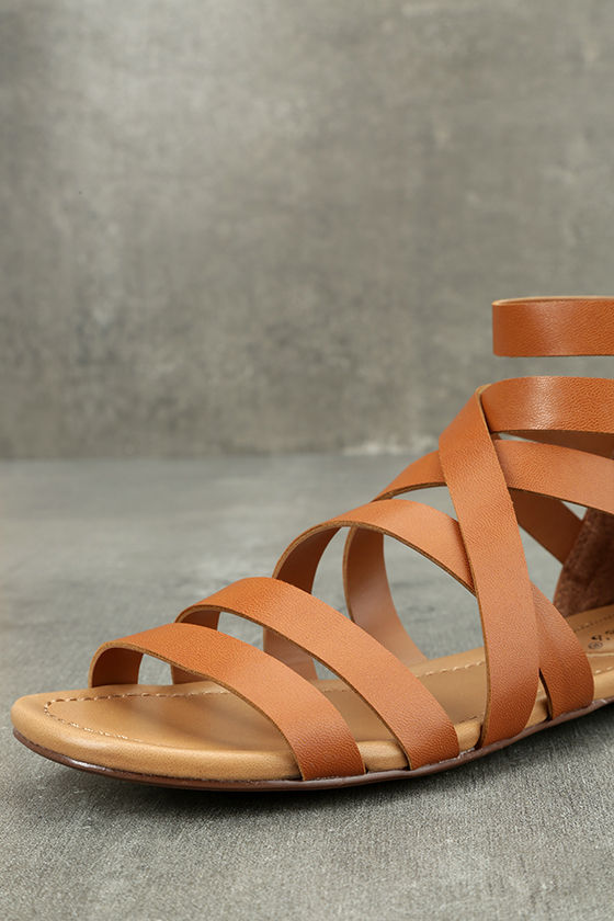 Neria Tan Gladiator Sandals 6