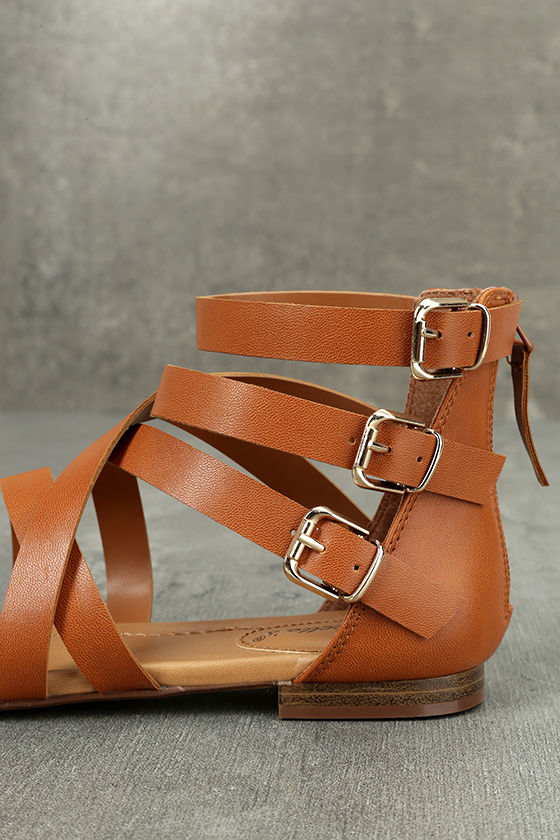 Neria Tan Gladiator Sandals 7