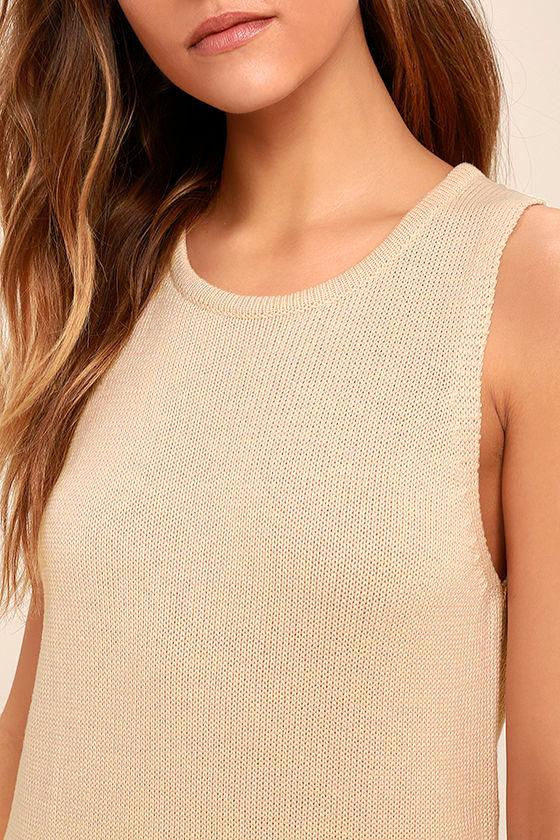 Sweetest Thing Beige Midi Sweater Dress 5