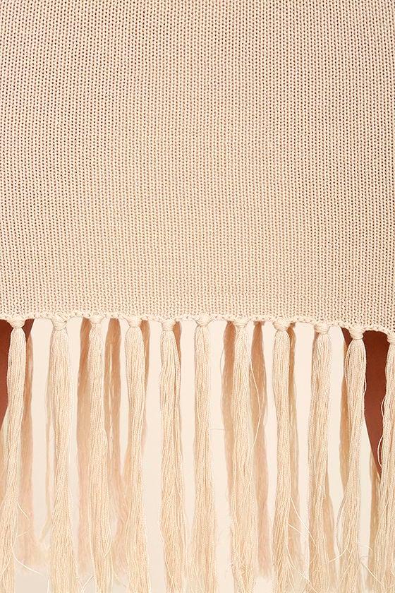 Sweetest Thing Beige Midi Sweater Dress 6