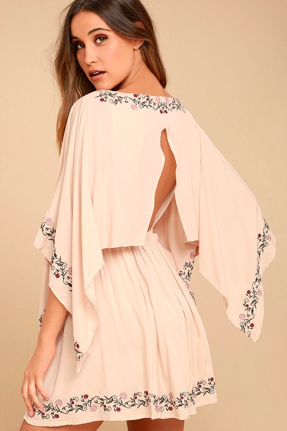 Garden Gathering Blush Pink Embroidered Dress 1