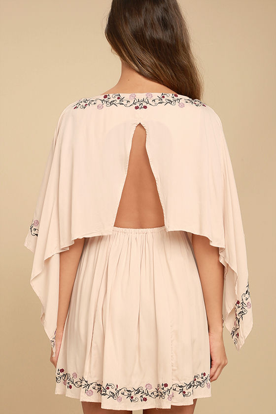 Garden Gathering Blush Pink Embroidered Dress 4