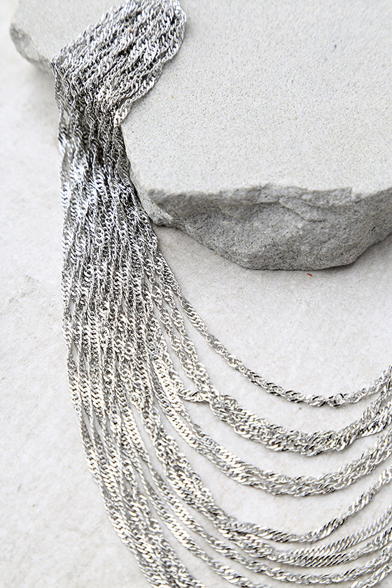 Party Hopping Silver Layered Choker Necklace 3