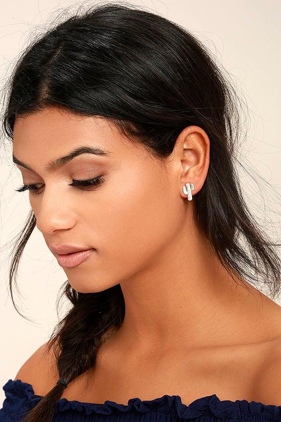 Desert Flower Silver Earrings 1