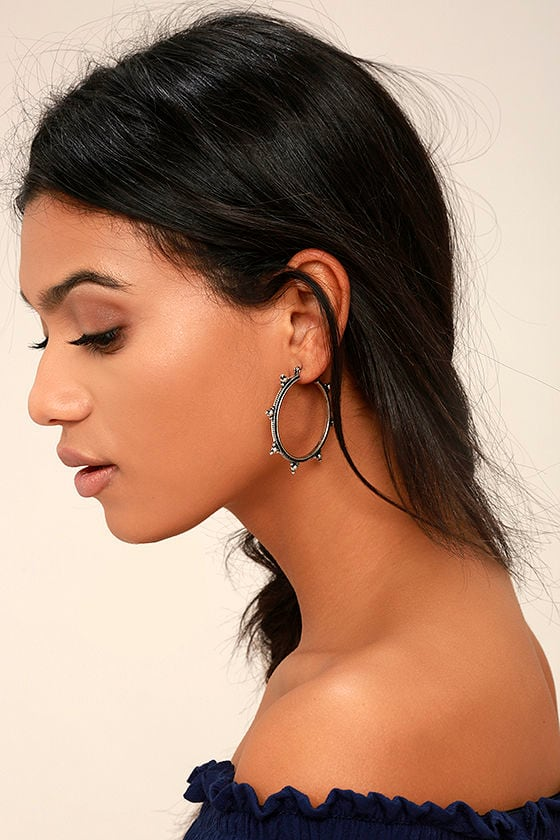Panorama Silver Hoop Earrings 1