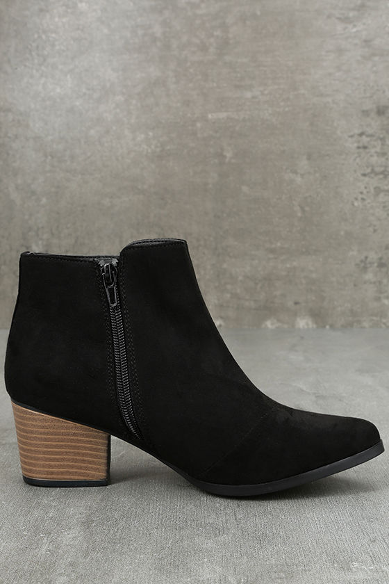 Feronia Black Suede Embroidered Ankle Booties 4