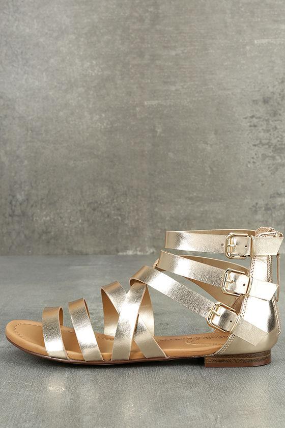 Neria Champagne Gladiator Sandals 2