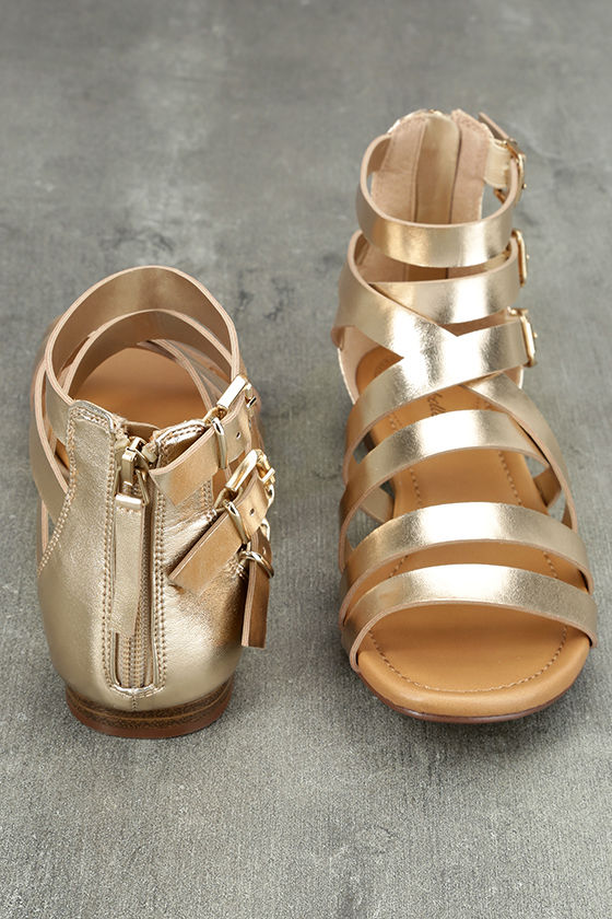 Neria Champagne Gladiator Sandals 3
