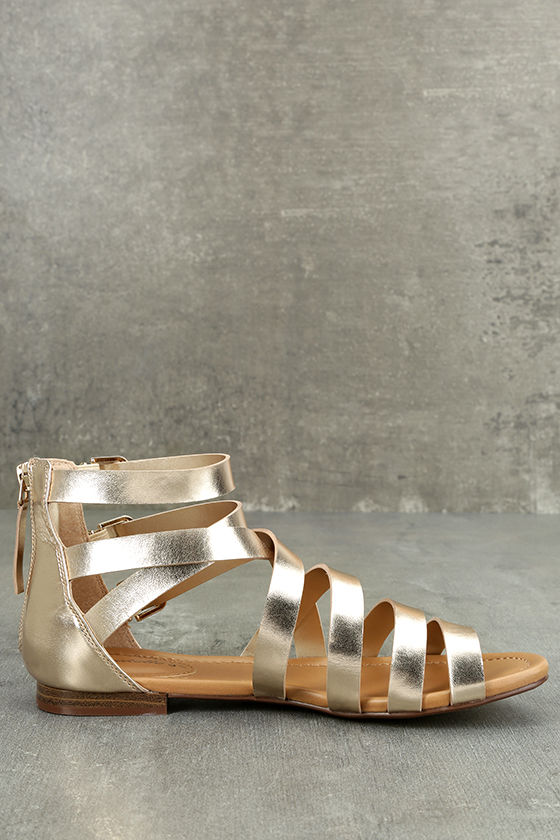 Neria Champagne Gladiator Sandals 4
