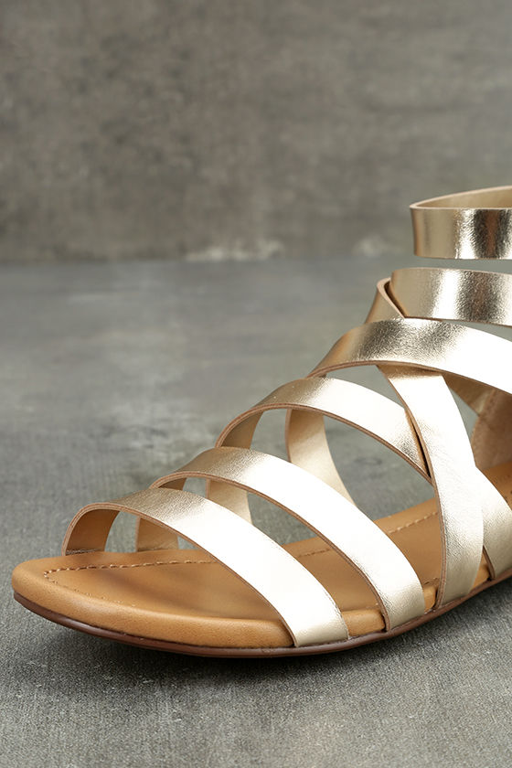 Neria Champagne Gladiator Sandals 6