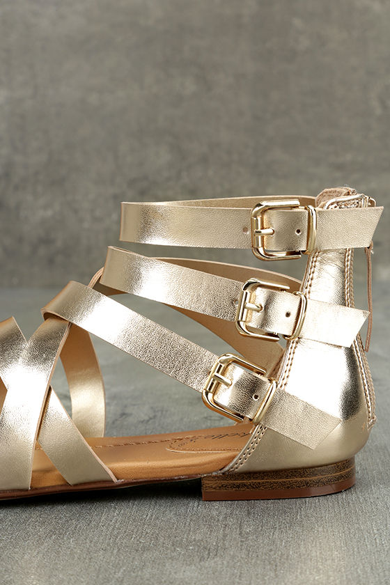 Neria Champagne Gladiator Sandals 7
