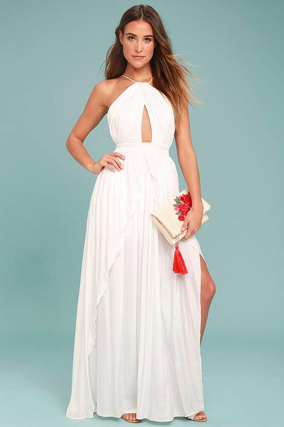 On My Own White Maxi Dress 1