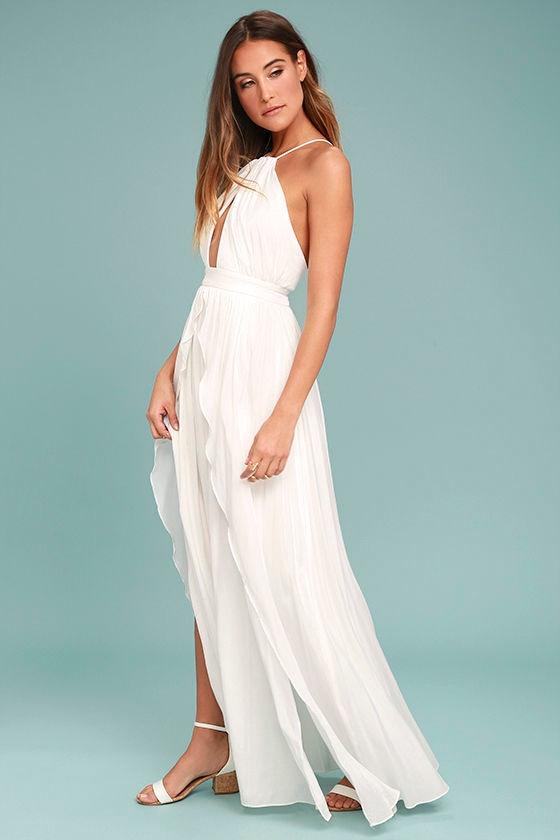 On My Own White Maxi Dress 2