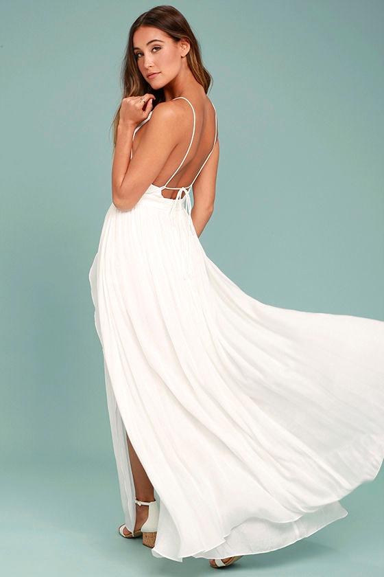 On My Own White Maxi Dress 3