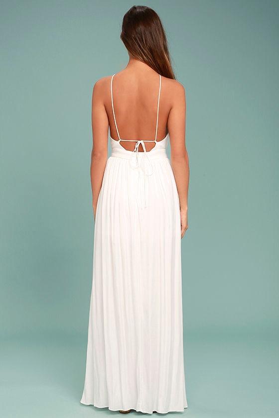 On My Own White Maxi Dress 4