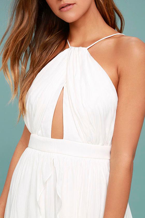 On My Own White Maxi Dress 5