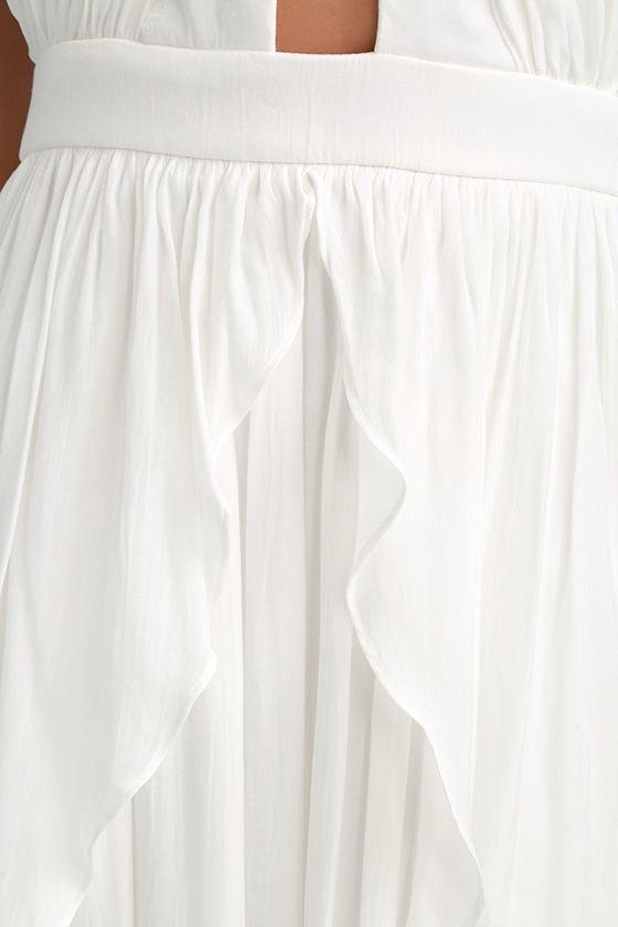 On My Own White Maxi Dress 6