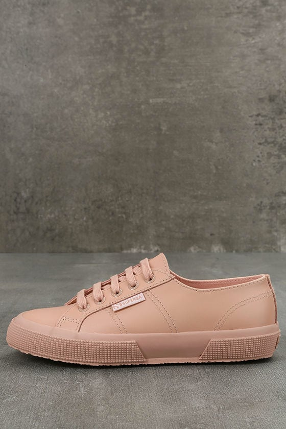 Superga 2750 FGLU WT Pink Leather Sneakers 1