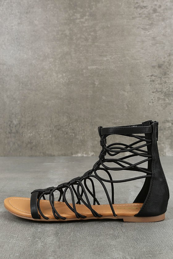 Jora Black Gladiator Sandals 2