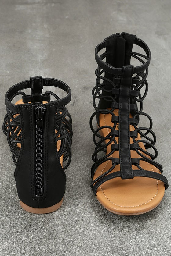 Jora Black Gladiator Sandals 3