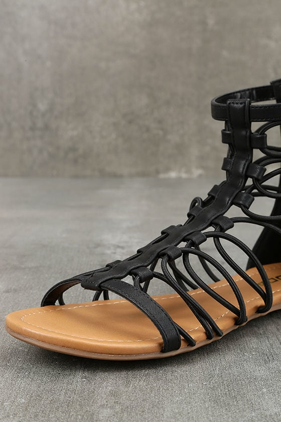 Jora Black Gladiator Sandals 6