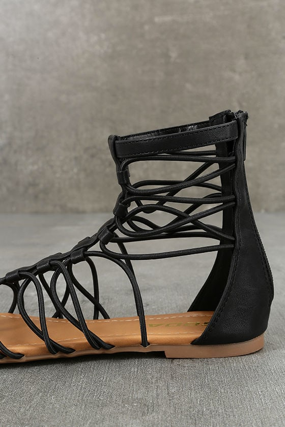 Jora Black Gladiator Sandals 7