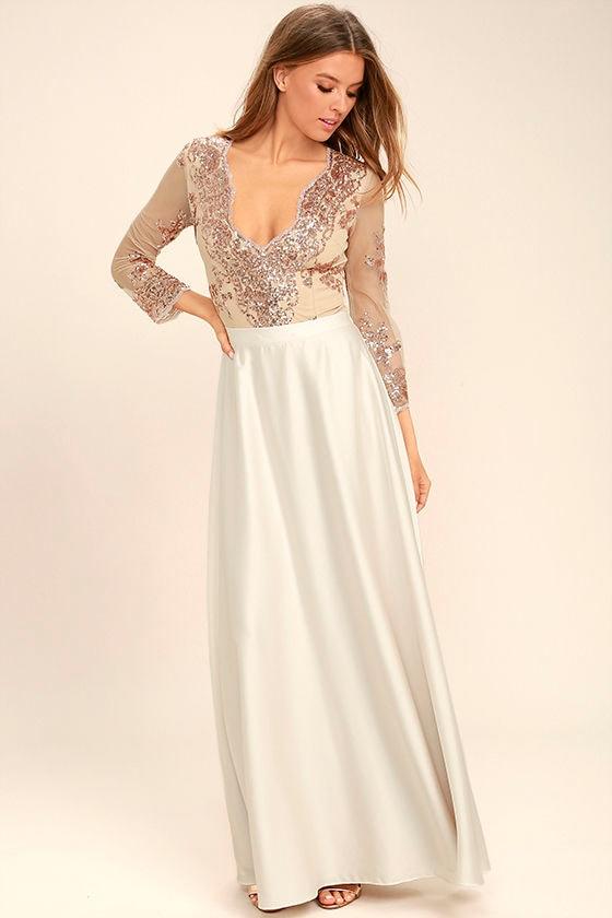 e840aa0f616c Stunning Rose Gold Bodysuit - Rose Gold Sequin Bodysuit - Rose Gold ...