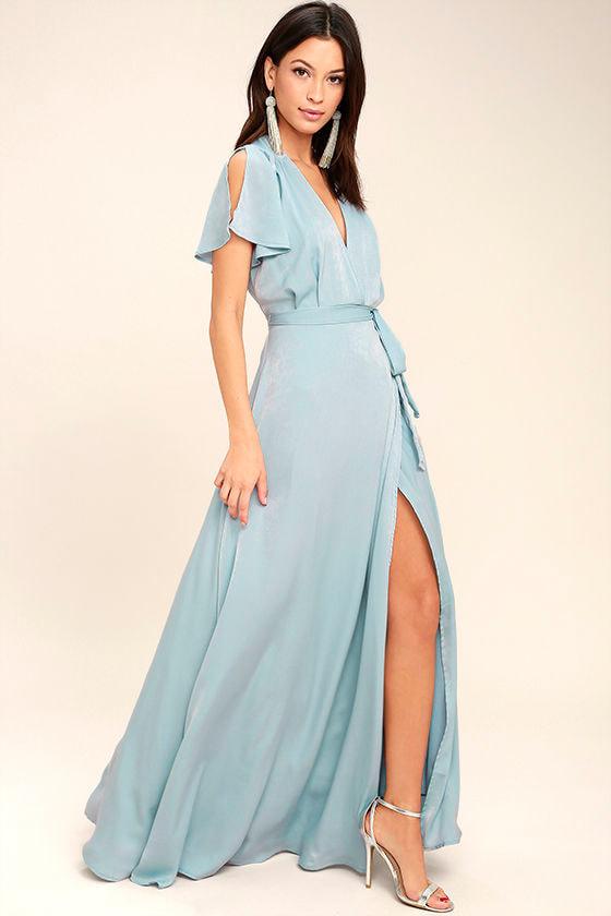 City of Stars Light Blue Maxi Dress 2