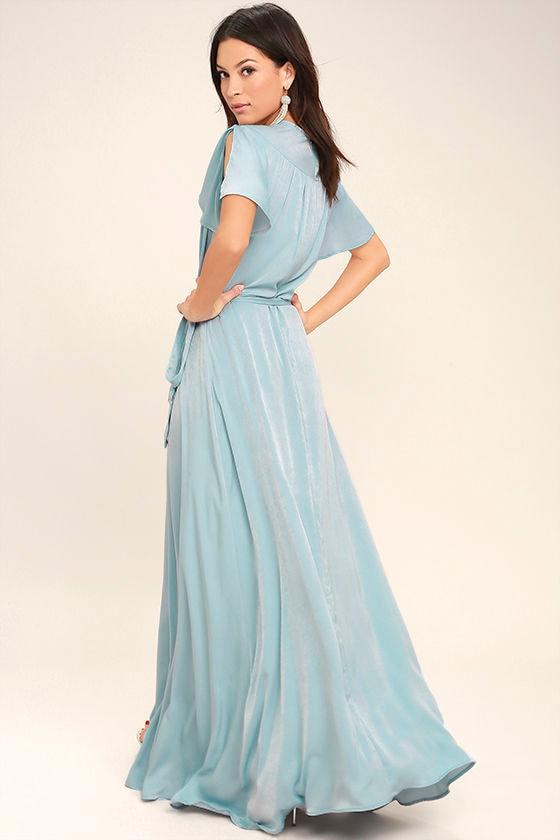 City of Stars Light Blue Maxi Dress 3