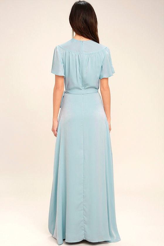 City of Stars Light Blue Maxi Dress 4
