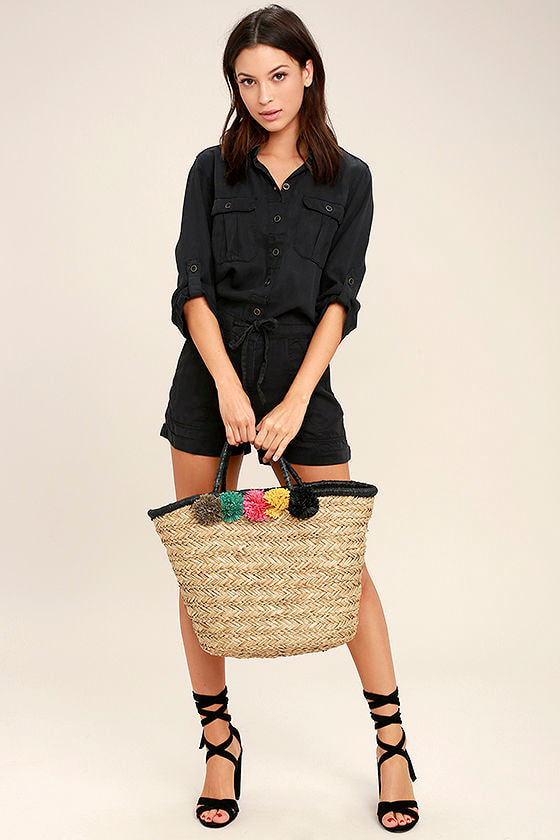 Everyday Holiday Washed Black Romper 2