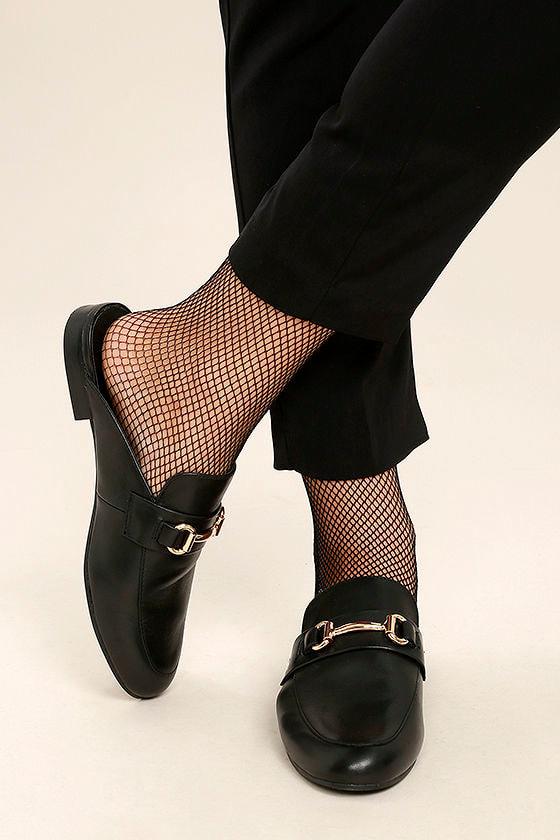 3db0c80528c Kandi Black Leather Loafer Slides