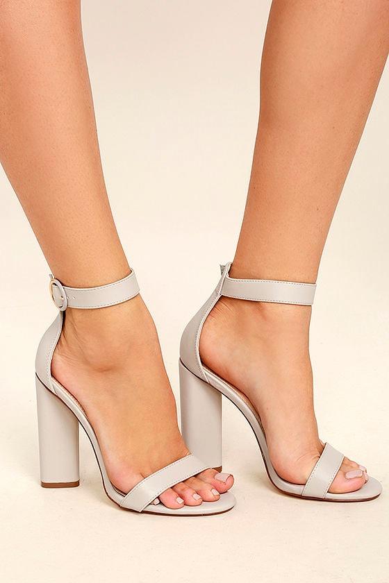 Kamali Grey Ankle Strap Heels 1
