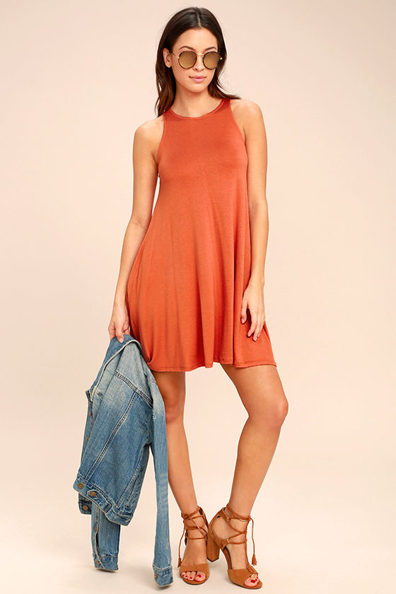 Tupelo Honey Terra Cotta Dress 1