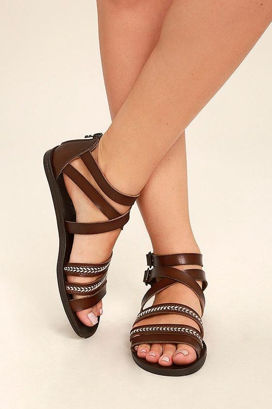 08fbd7be98ed Blowfish Dodo Sandals - Whiskey Brown Sandals - Gladiator Sandals ...
