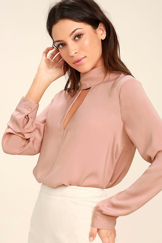 Realize Mauve Pink Long Sleeve Top 1
