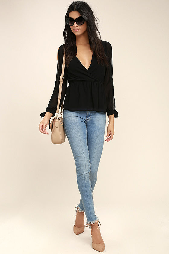 Mutual Attraction Black Long Sleeve Top 2