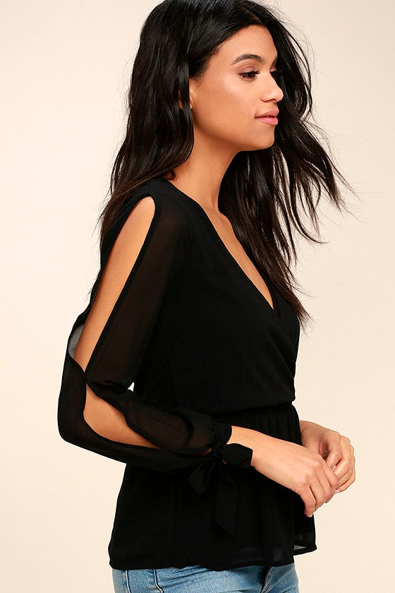 Mutual Attraction Black Long Sleeve Top 3